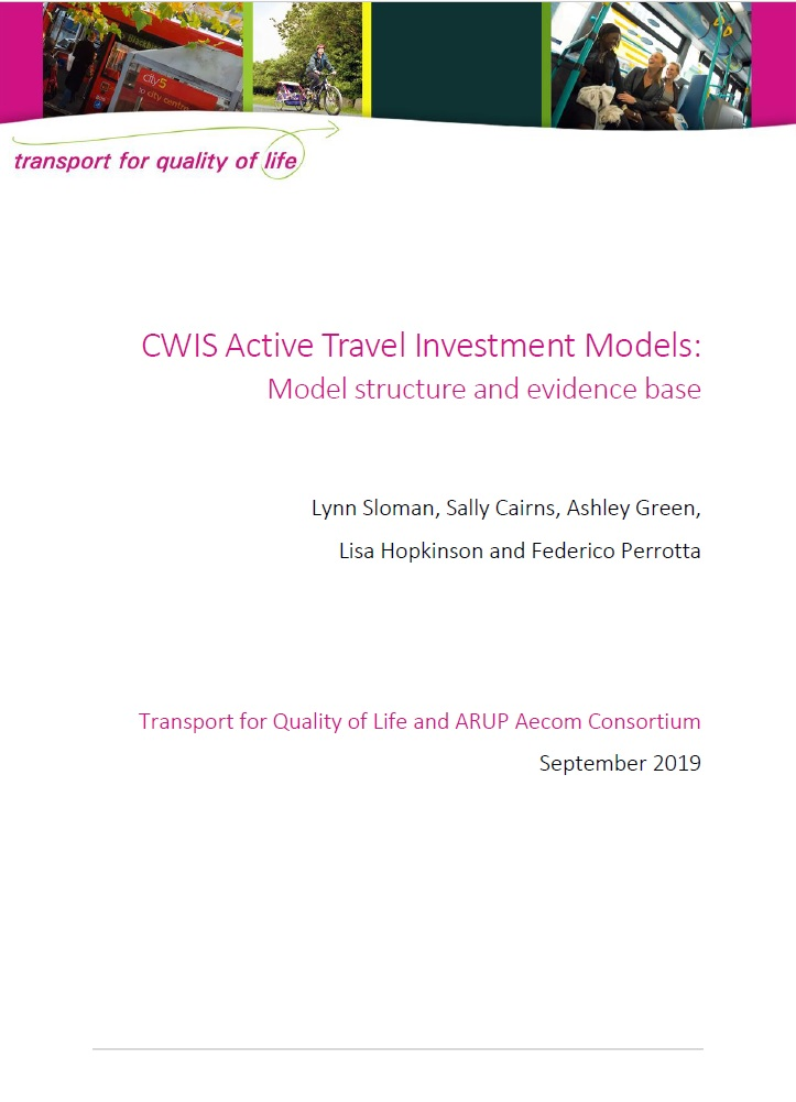CWIS Active Travel Investment Models cover image