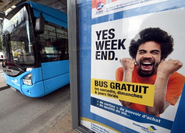 Free bus ad