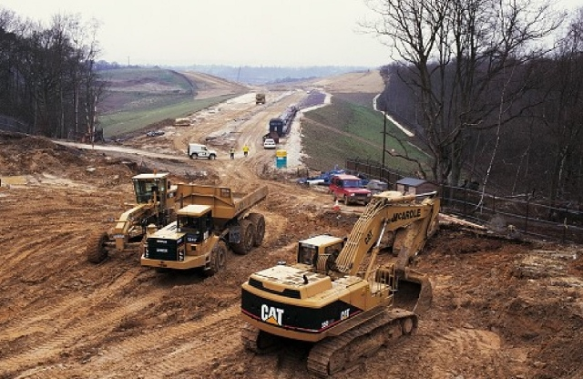 Newbury bypass under construction