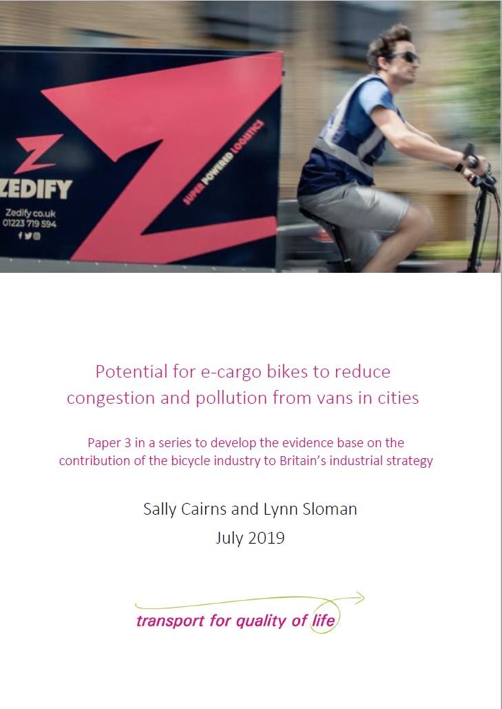 Potential for e-cargo bikes_cover image