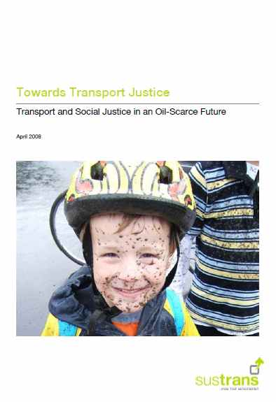 Towards Transport Justice cover image young mountain biker