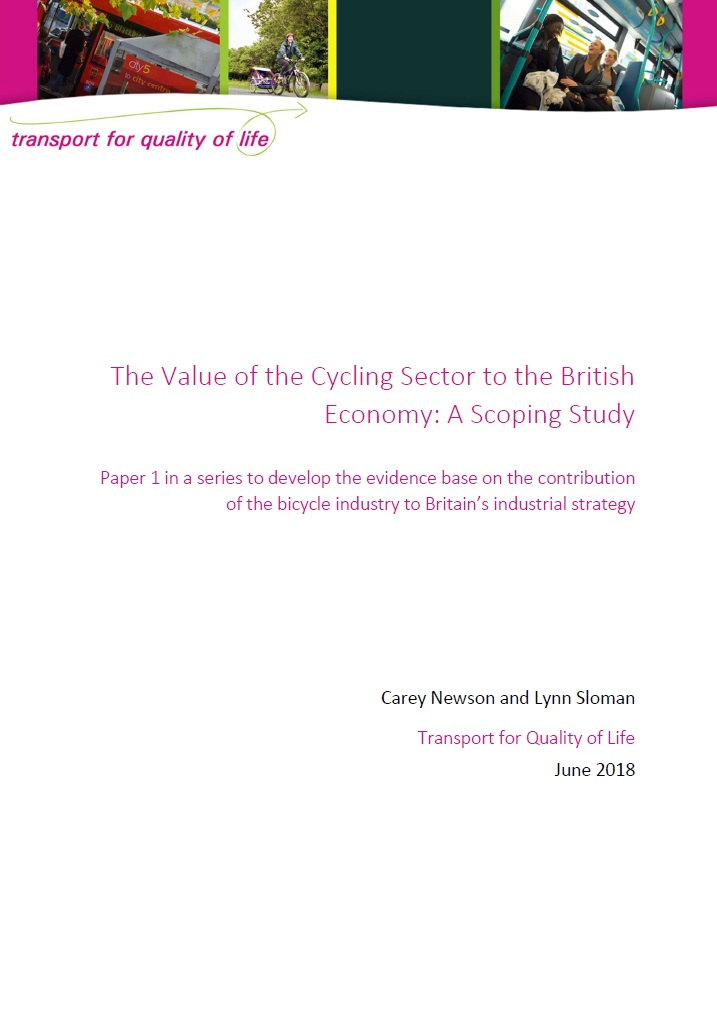 Value of cycling to British economy cover image